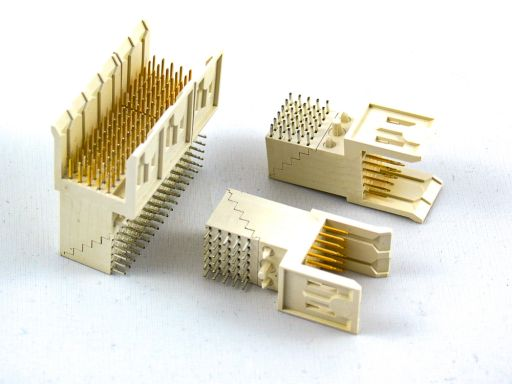 9111-55 | H.D. 2mm Futurebus(+)5 Rows Male R/A Type