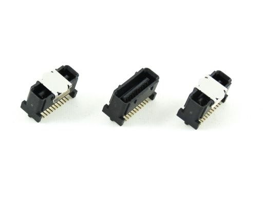2348-xxG(C)xxDxxT-x | 1.00mm Male Vertical SMD stacked height 8.00mm through 15.0mm