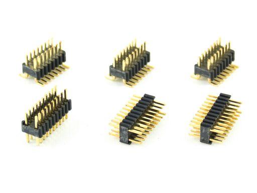 2212-2   Pin Header 1.27mmX2.54 mm Insulator 2.50mm