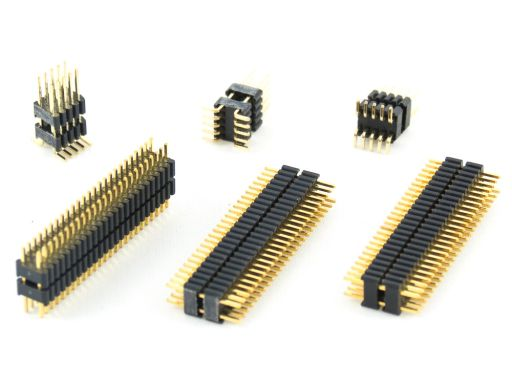 2214-2   Pin Header 1.27mmX2.54mm Dual Insulator