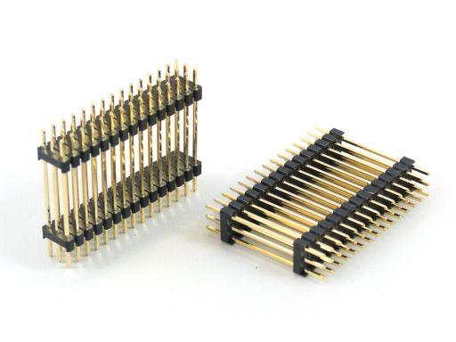 2012-3 | Pin Header 2.54mmX2.54mm Dual Insulator 3 Rows