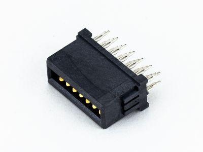 9114-D14CB30P | Type D Power Female Vertical Press fit