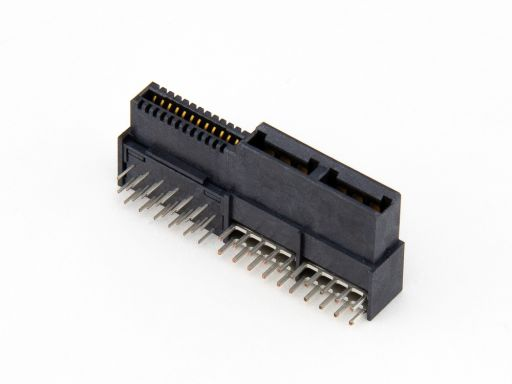 9392-4 | Low Profile Hybrid Power Receptacle R/angle Type