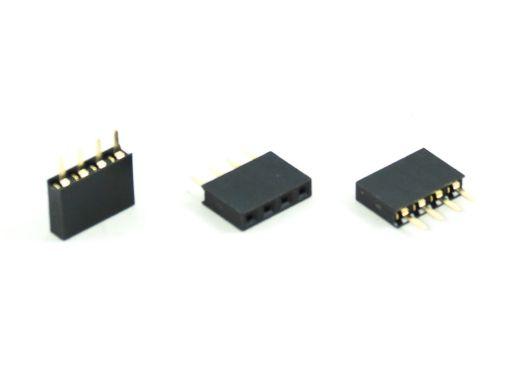 2043-1 | PCB Socket 2.54mm Straight Type Insulator 7.1mm