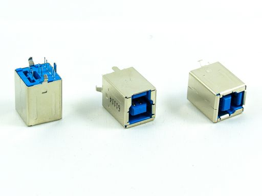 8972-B09C30 | USB 3.0  B Receptacle Vertical/Right Angle Through hole