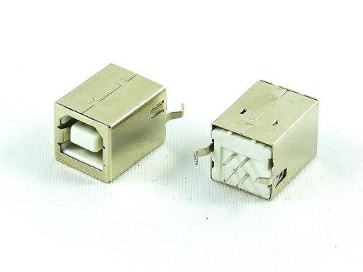 8968-B04C | USB 2.0 B Receptacle  Vertical Through hole
