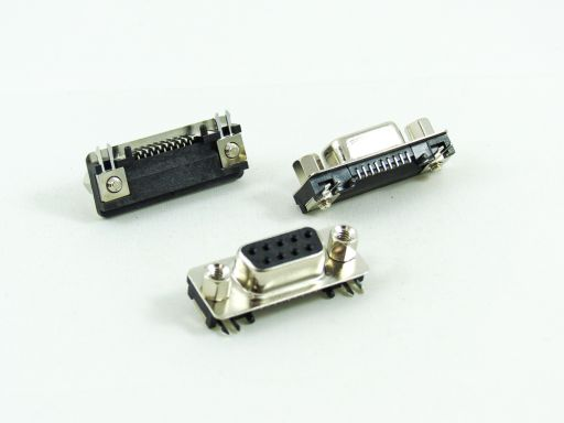 7902-A09FYC00DL1A | Slim D_sub Female R/angle SMD  09P