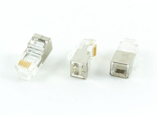 8949-A66 | Shield Modular Plug 6P6C For Round Cable