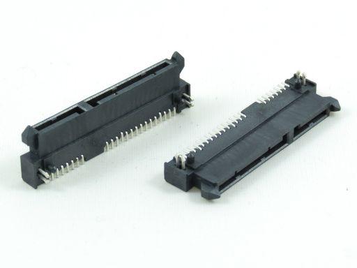 7904-22FC15DB1U   Series ATA 7+15P Female SMD R/angle (Reverse)